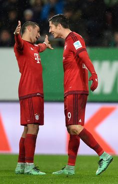 Thiago Alcantara and Robert Lewandowski.