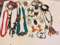 Vintage To Now Jewelry Lot..Turquoise ..MOP, Murano,rhinestones