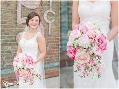 Incredible pink rose bouquet! Photo credit: Ryan and Alyssa.