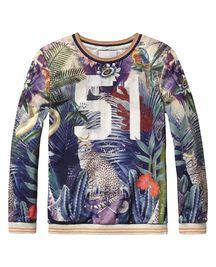 Sweater mit Foto-Print
