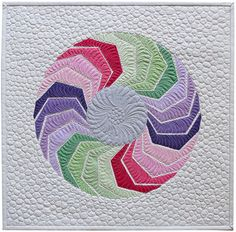 Quick and Easy Wall hanging quilt pattern- modern geometric design- colorful applique design