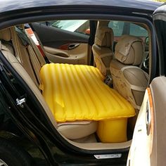 Icevolcano Car Backseat PVC Inflatable Bed Airbed
