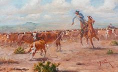 Two Feet, by Mike Capron; Texas Cowboys, Rustic Western Decor, Cowboy Art, Artsy Fartsy, Westerns, Horses, Wallpaper, Artist, Ranch