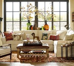 like the look with a variety of rustic, ranch style mixed with cottage-y accents and color.