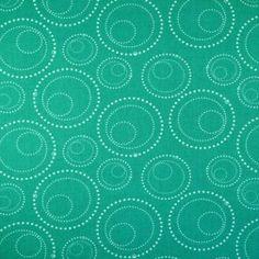 Katoen reuzencirkels blauw-groen