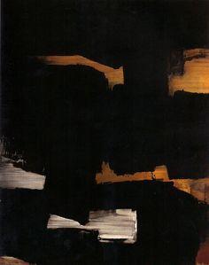 """Pierre Soulages - Abstract Art - Informal Painting """"Du noir à l'outrenoir"""" 2005"""