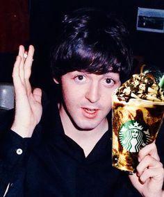 Paul with Starbucks❤️