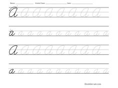 Cursive numbers: Free printable worksheets for tracing and for practicing handwriting. Cursive Letters Worksheet, Cursive Numbers, Cursive Writing Practice Sheets, Teaching Cursive Writing, Letter Practice Sheets, Learning Cursive, Letter Tracing Worksheets, Cursive Alphabet, Handwriting Worksheets