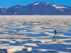 Skipping Along the Ice Floes, Axel Heiberg Island, Canada