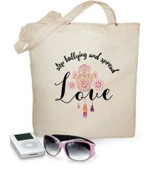 100 cotton cloth bag stop bullying, spread love