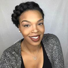 African American Halo Braid Updo