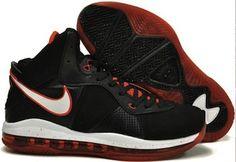 big sale 02f25 3195d Pas cher Nike Lebron James Noir with Rouge Blanc Chaussures de basket