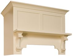wood hood mantel style, choose with the craftsman corbels instead.