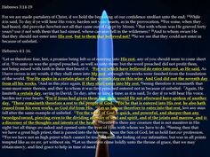 The Seventh day Sabbath Rest - The book of Hebrews