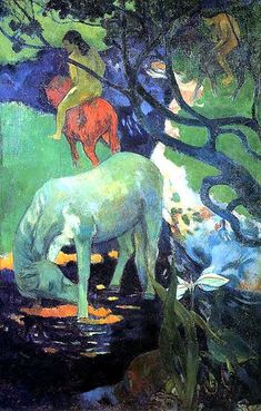 """The White Horse""  --  1898  --  Paul Gauguin  --  French  --  Oil on canvas  --  Musée d'Orsay, Paris"