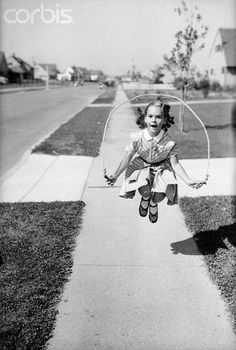Playing jump rope for hours.