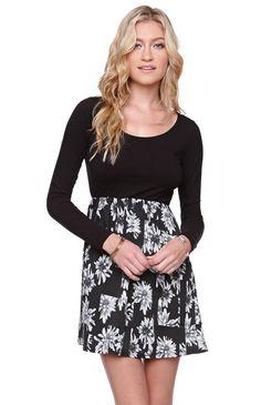 Long sleeve floral dress Pac Sun