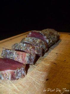 Saucisson de filet mignon Cuisines Diy, Smoking Meat, Charcuterie, Meat Recipes, Carne, Sausage, Steak, Easy Meals, Pork
