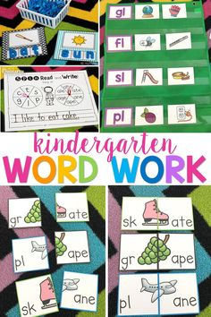 The learning never ends with this word work bundle. It's packed full of great center ideas and activities for your kindergarten literacy block. Activities range from finding the missing vowel to reading CVCe words to building sentences! Grab it before the beginning of the new year! #bundle #misskindergarten