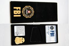 FBI fashion new arrived handmade cloth wallet testificate gold series fbi-inWallets from Luggage & Bags on Aliexpress.com