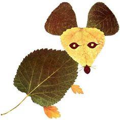 Výsledek obrázku pro tvoření z listí