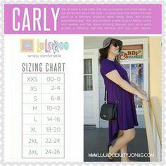 #LuLaRoeKatyJonas #LuLaRoe #LuLaRoeCarly #carlysizing #carlysizingchart