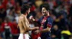 Lionel Messi & Pablo Aimar // Benfica V FC Barcelona