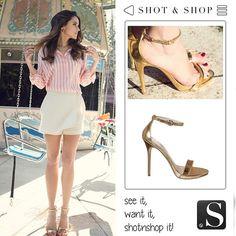 ¿Te ha gustado el look de Macarena García, para el reportaje 7 días, 7 looks de Vogue? Encuentra sus sandalias con SHOT & SHOP!