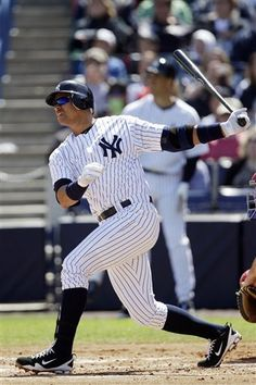 Alex Rodriguez was forced upon retirement by the New York Yankees and is now working in the teams front office/player development field. Sources say there may be a connection to the Miami Marlins and we may see A Rod there in the near future Yankees Baby, Damn Yankees, New York Yankees Baseball, Baseball Pics, Arkansas, Iowa, Equipo Milwaukee Brewers, Minnesota, Superman