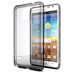 Galaxy Note 4 Case, Enther® [Ultimate Cushion]Slim Scratch / Dust Proof Hybrid Transparent Clear Case with Shock Absorb Trim Bumper(Black)