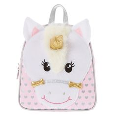 <P>Keep all your belongings together in this super cute Unicorn backpack! It has been designed in pink and silver with a fun 3D unicorn on the front. The straps are adjustable and there is a zip fastening. </P><UL><LI>Unicorn backpack</LI><LI>Pink & silver</LI><LI>Adjustable straps</LI><LI>Zip fastening</LI></UL>