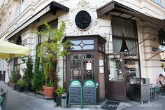 The Night Porter Film Location Cafe Savoy, Linke Wienzeile The ex-Nazis keep a close eye on Max, at the hotel where he works, from the cafe across the street. The Night Porter, Filming Locations, At The Hotel, Vienna, Rome, Goals, Street, Roads, Walkway