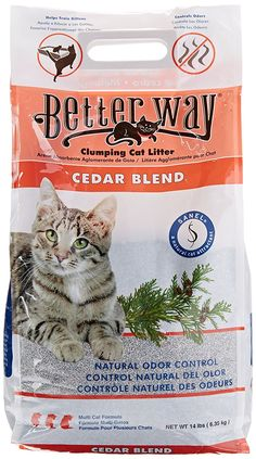 Better Way Flushable Cat Litter 12 Pound Bag Pet Soft Easy To Remove Easy To Cle