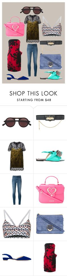 """fashion trends"" by monica022 ❤ liked on Polyvore featuring STELLA McCARTNEY, Chanel, Marc Jacobs, J Brand, Love Moschino, The Upside, Jimmy Choo, Paul Andrew, Christian Dior and vintage"