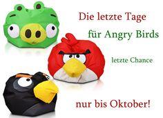 Menschen! Bis Ende des Oktobers kann man nur unsere Sessel und Sitzsacke aus der Kollektion Angry Birds kaufen.  Sie müssen sich beeilen. #Angry #Birds #Sessel #Sitzsack #Oktober #Ende www.furini-sitzsack.de