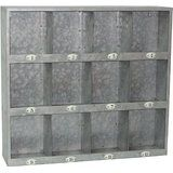 Galvanized Metal Cubby Rack with Number Labels
