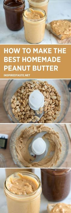 How to make the best homemade peanut butter. An easy recipe!!