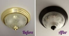 DIY oil-rubbed bronze fixtures, I have done this to towel rods and other fixtures too, works great!