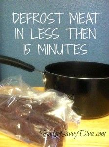 Defrost Meat In Less Then 15 Minutes, FDA Approved