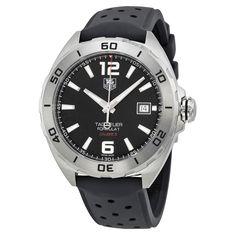 Tag Heuer Formula 1 Automatic Black Dial Black Rubber Men's Watch WAZ2113FT8023