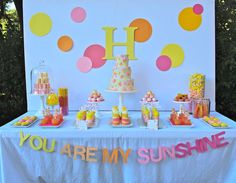 You are my Sunshine Birthday Party Ideas Sunshine Birthday Parties, Birthday Fun, First Birthday Parties, Birthday Party Themes, First Birthdays, Birthday Ideas, Summer Birthday, Diy Invitation, Printable Invitations