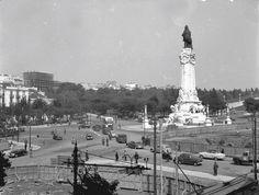 Obras na Rotunda, Lisboa, 1959.Judah Benoliel, in archivo photographico da C.M.L.
