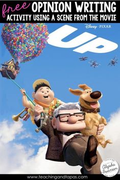 Free opinion writing activity using a short scene from the Pixar movie, Up. It is perfect for 2nd or 3rd graders!