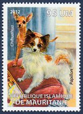 Papillon and Chihuahua Dog Art Postage Stamp Mint Unused MNH 2012