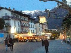 Ascona Tessin, in der Dämmerung,                     Switzerland