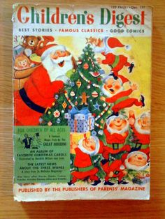 Children's Digest December, 1954 - Vintage Christmas Children's Magazine