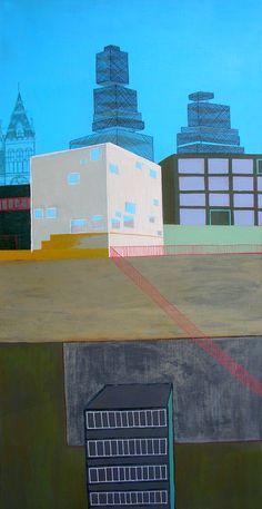 "Saatchi Online Artist: Nisja Nisja; Acrylic, 2011, Painting ""urban landscape 130"""