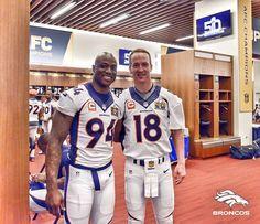 Demarcus Ware&Peyton Manning - Super Bowl 50 - Denver Broncos