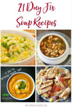 21 Day Fix Soup Recipes – Soup is healthy and easy to make! Add some of these 21 Day Fix Soup Recipes to your meal plan for t – 21 Day Fix Menu, 21 Day Fix Diet, 21 Day Fix Meal Plan, Soup Recipes, Cooking Recipes, Healthy Recipes, Healthy Meals, Fixate Recipes, Healthy Food