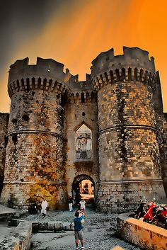 Main gate to the old town, Rhodes, Greece
